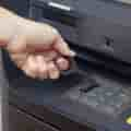 Stylus in use at ATM