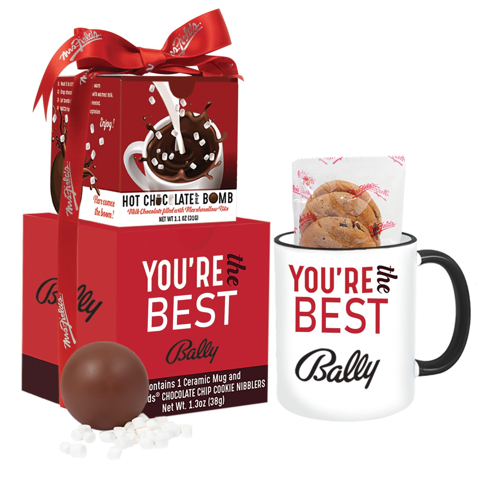Mrs. Fields Mug & Cookies with Hot Chocolate Bomb Gift Set