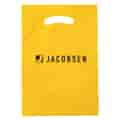 """9"""" x 13"""" Plastic Bag with Fold-Over Die-Cut Handles"""