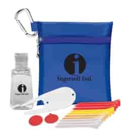 Conqueror Golf Zipper Pack with 1 oz Hand Sanitizer- Value Pak