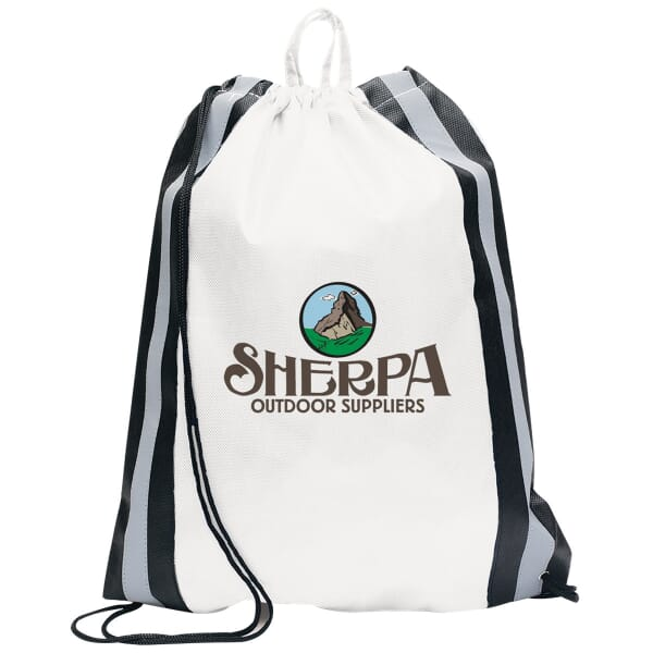Full Color Safety Drawstring Backpack-Large