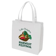 White lightweight tote bag with full color imprint