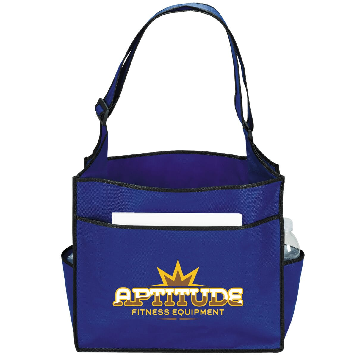 Event tote with full color imprint on front pocket